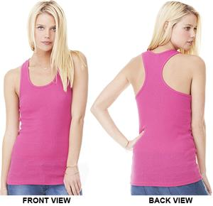 Bella+Canvas Womens 2x1 Racerback Longer Tank