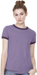 Bella+Canvas Womens Jersey Short Sleeve Ringer Tee