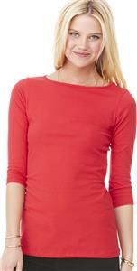 Bella+Canvas Womens Jersey 1/2 Sleeve Boatneck Tee