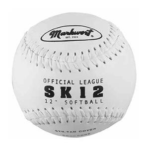 "Markwort SK12-W 12"" Synthetic Leather Softballs"