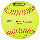 "Markwort 11"" Synthetic Yellow Leather Softballs"