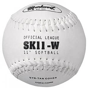 "Markwort 11"" Synthetic Leather Cover Softballs"