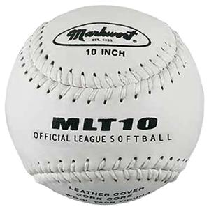 "Markwort MLT10 10"" Leather Cork Core Softballs"