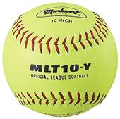 "Markwort Yellow 10"" Leather Cork Core Softballs"