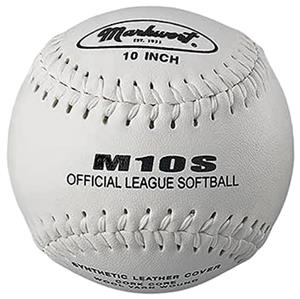 "Markwort M10S 10"" Synthetic Cover Softballs"