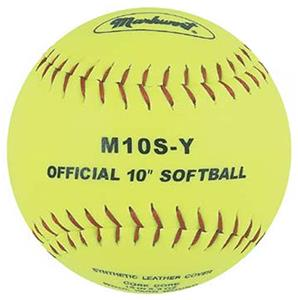 Markwort Yellow 10&quot; Synthetic Cover Softballs