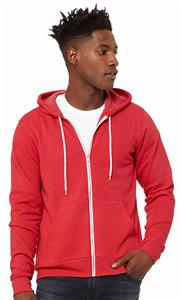 Bella+Canvas Poly-Cotton Fleece Full-Zip Hoodie