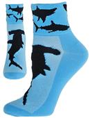 Red Lion Zany Maneater Performance Qtr Crew Socks