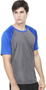 Alo Sport Mens Performance Short Sleeve Raglan Tee