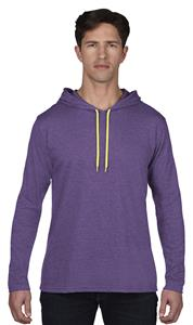 Anvil Adult Long Sleeve Unlined Hooded Tee