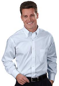 Van Heusen Men's LS Blended Pinpoint Oxford Shirt