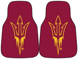 Fan Mats Arizona State Univ Carpet Car Mats (set)