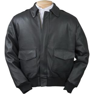 Burk's Bay Adult A-1 Cowhide Leather Bomber Jacket