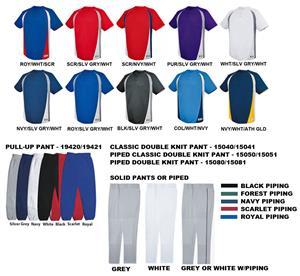 High 5 Ace Baseball 2-Button Jersey Uniform Kits