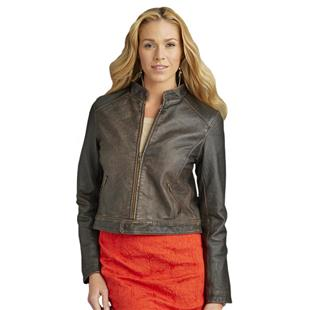 Burk's Bay Ladies' Retro Leather Jacket