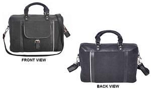 Burk's Bay Cowhide Leather/Canvas Elite Briefcase