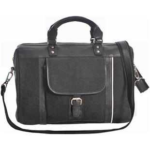 Burk's Bay Cowhide Leather/Canvas Elite Briefcase