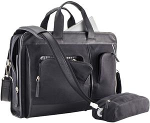 Burk's Bay Leather/Canvas Executive Briefcase