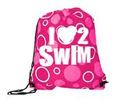 Image Sport I Love 2 Swim Drawstring Backpack