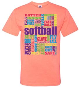 Image Sport Softball Words T-Shirt