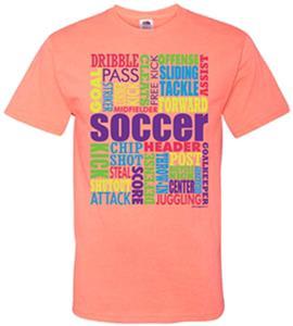 Image Sport Soccer Words T-Shirt