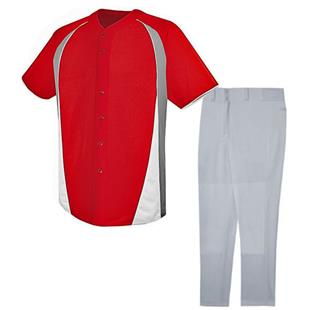 High 5 Ace Baseball Full Button Jersey Uniform Kit