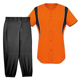 Womens Faux Front Softball Jersey Uniform Kits