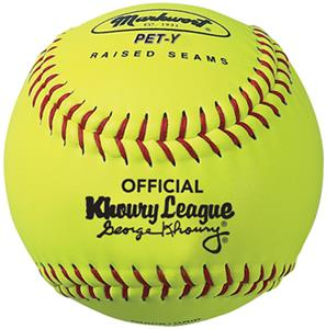 "Markwort 10"" Yellow Khoury League Softballs-Youth"