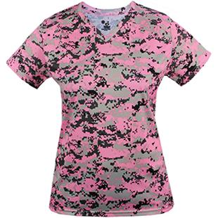 Badger Sport Ladies Digital Camo Tee Shirt