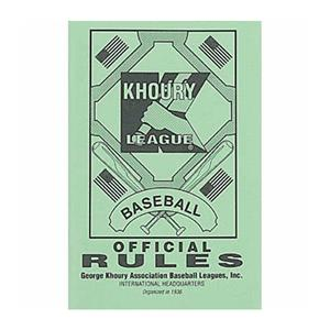 Markwort &quot;Khoury League&quot; Baseball Rule Books