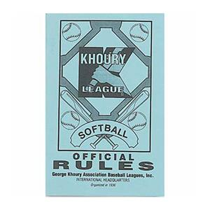 Markwort &quot;Khoury League&quot; Softball Rule Books