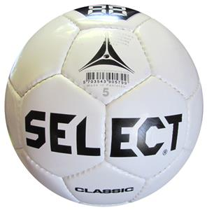Select Classic Series White Soccer Ball-Closeout