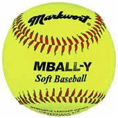"Markwort 9"" Yellow Safety Light Baseballs-Youth"