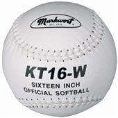 "Markwort 16"" KT16 Large Leather Cover Softballs"