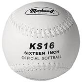 "Markwort 16"" KS16 Synthetic Cover Softballs"