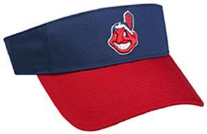 MLB Pre-Curved Cleveland Indians Visor