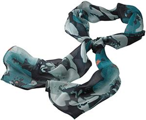 Edwards Womens Silk Chiffon Splatter Floral Scarf