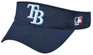 MLB Pre-Curved Tampa Bay Devil Rays Visor