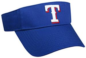 MLB Pre-Curved Texas Rangers Visor
