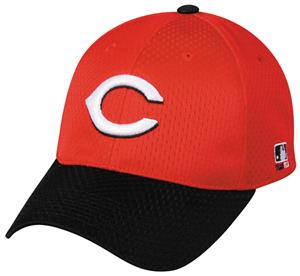 MLB Stretch Fit Cincinnati Reds Road Baseball Cap