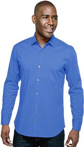 Tri Mountain Mens Greyson Poplin Long Sleeve Shirt