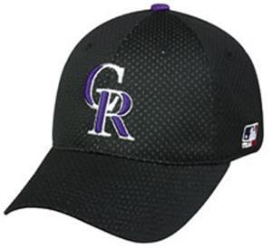 MLB Stretch Fit Colorado Rockies Baseball Cap