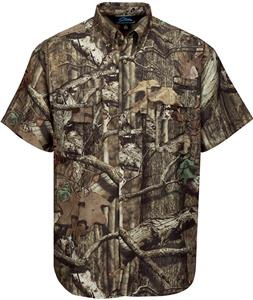 Tri Mountain Adult Reef Camo Short Sleeve Shirt