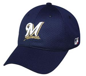 MLB Stretch Fit Milwaukee Brewers Baseball Cap