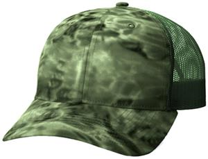 Richardson 872 Aqua Design Mesh Back Camo Caps