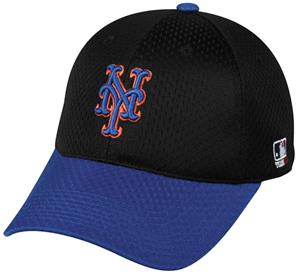 MLB Stretch Fit New York Mets Road Baseball Cap