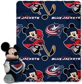 NHL Columbus Blue Jackets Mickey Hugger Throw