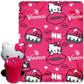 NFL Minnesota Vikings/Hello Kitty Hugger Throw
