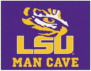 Fan Mats Louisiana State Uni Man Cave All-Star Mat