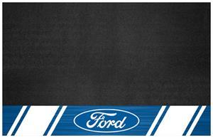"""Fan Mats Ford Oval w/Stripes 26"""" x 42"""" Grill Mat"""